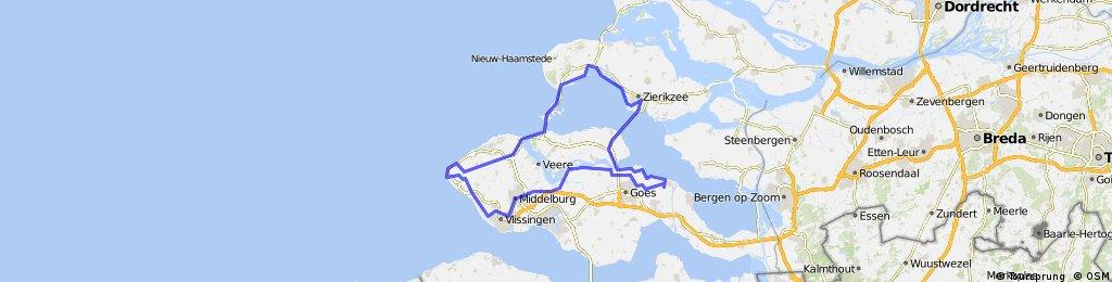 Rondje Westkapelle - Zierikzee - 134 km
