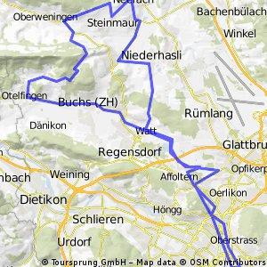 Zürich Unterland via ZH CLONED FROM ROUTE 984052