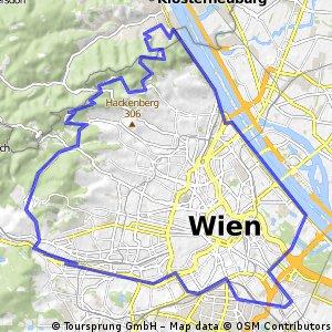 Wien: Umrundung mit Höhenstraße