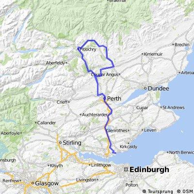 Aberdour - Pitlochry 3 day easy tour