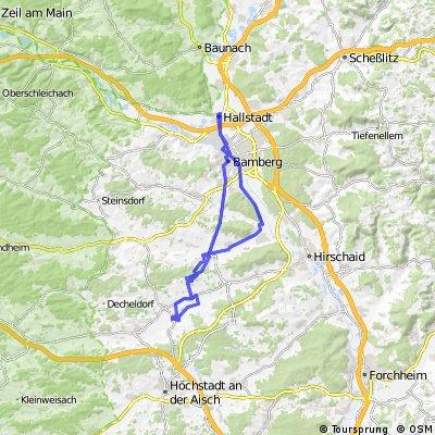 Hallstadt - Pommersfelden (Schloß Weißenstein)