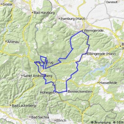 Braunlage rundtur 2012/1 87km 1420HM