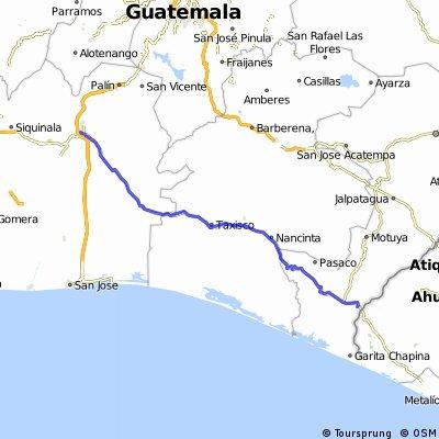 Escuintla a frontera con El Salvador