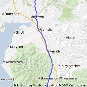 JOGLE Day 5: Hawick - Halton Camp CLONED FROM ROUTE 1205895