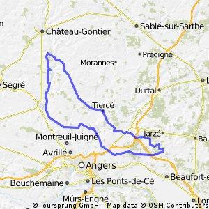 Ten westen naar Angers