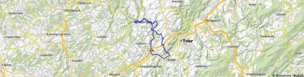 Zewen - Echternach - Zewen mit Berg