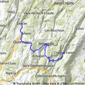4. Etappe: Dortan - Chézery-Forens
