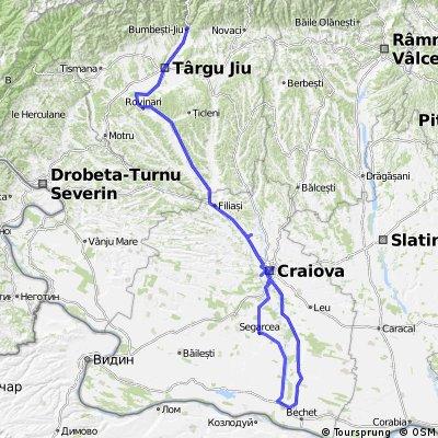 TURA 8 : CRAIOVA-ZAVAL-STREHAIA-FILIASI-ROVINARI-TG.JIU-VALEA SADULUI