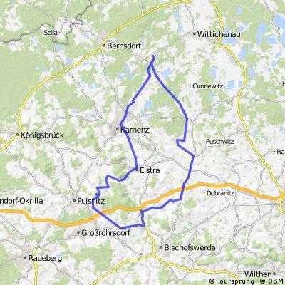 Crostwitz-Burkau-Rammenau-SChwedenstein-Rehnsdorf -Elstra
