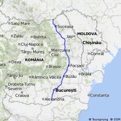 E85: Siret–Suceava–Roman-Bacău–Buzău–Urziceni–București–Giurgiu