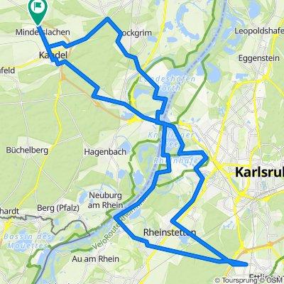 Panikroute bis kurz vor Ettlingen