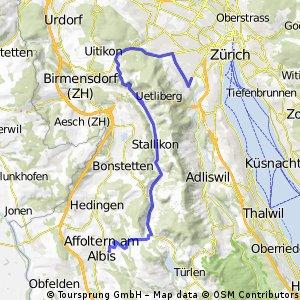 Affoltern to Uetlihof via Wettswil