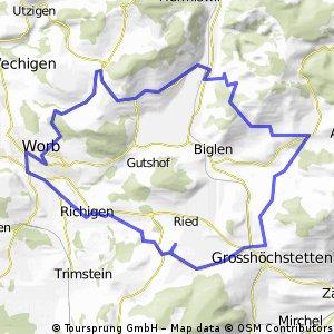 Schlosswl - Arnisäge - Walkringen - Wikartswil - Worb - Richigen