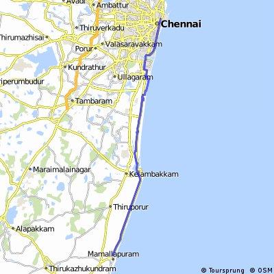 Asia By Bike - India - Madras to Mahabalpuram
