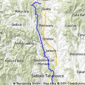 MTB_Prešov-Kvašná voda-Kendický kríž-Obišovce-Košice CLONED FROM ROUTE 123079
