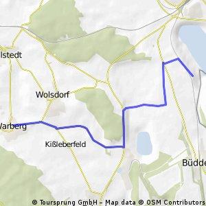 Versuchstour zum Helmstedt see
