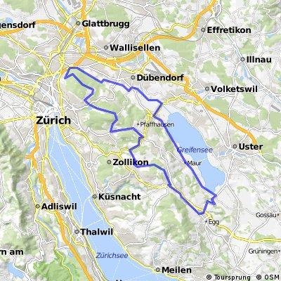 Schwamendingen-Greifensee-Wassberg-Schwamendingen