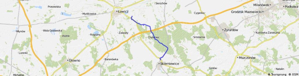Mysłaków k. Łowicza - Arkadia - Nieborów - Skierniewice