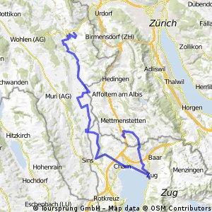Tour 4: Reusstal-Cham-Zug-Knonau