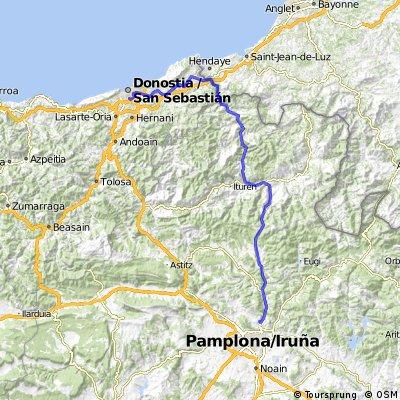 pyrenees tour: Day 10 Pamplona to San Senastian