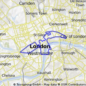 WNBR London 2012 Route - Probable CLONED FROM ROUTE 1430059