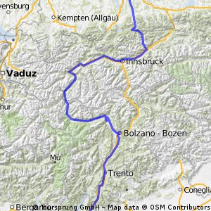 Von München nach Verona über Bozen