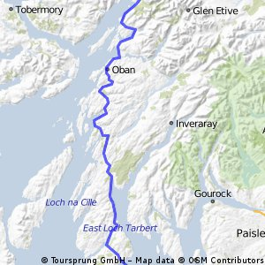 LEJOG Day 9 - Lochranza  to Glencoe  (via Lochranza - Claonaig ferry)