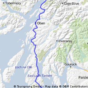 LEJOG Day 9 - Lochranza  to Glencoe  (via Lochranza - Claonaig ferry)