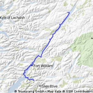 LEJOG Day 10 - Glencoe to Loch Ness