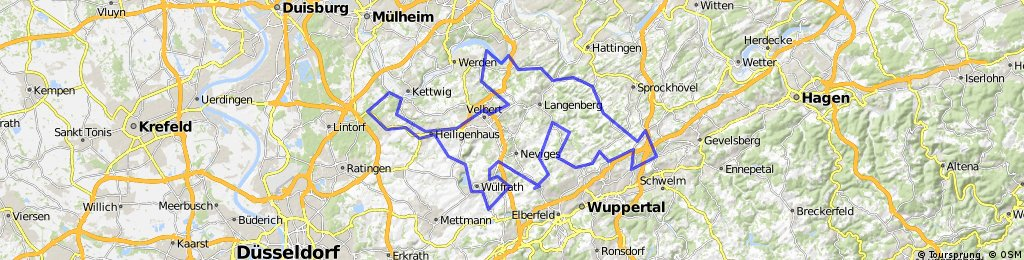 RTF Endspurt Wuppertal, 112 km 05.05.2012