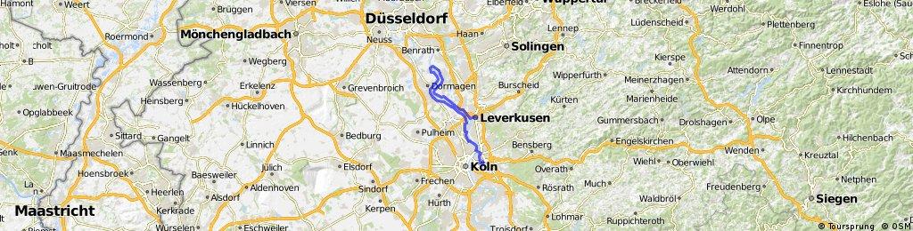Köln-Kalk – Zons – Leverkusen-Mitte