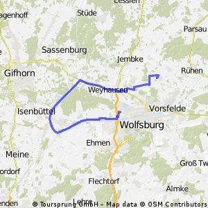 Kanalstrecke VW - Home ca, 32 km