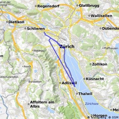 Leichte Stadt Land Route