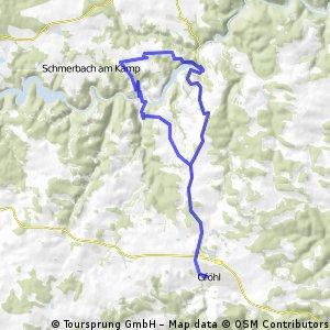 Gföhl - Krumau - Tiefenbach - Idolsberg - Gföhl
