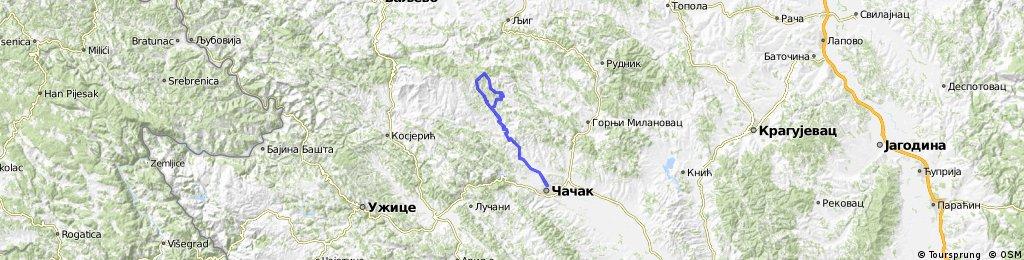Cacak Ravna Gora Kruzna Bikemap Your Bike Routes
