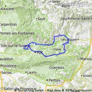 Luberon, Ocre par l'ouest, boucle moyenne