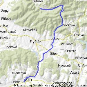 zzz _CZE _ Hostýnské vrchy - Rusava - Vlčková - Lukov - Zlín