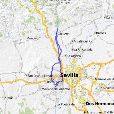 Ferrocarril de Minas de la Cala a San Juan de Aznalfarache (RUTA 2 - Desde Santiponce a Guillena)