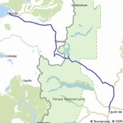De Junín de Los Andes a Pucón con desvío al Lago Tromen.