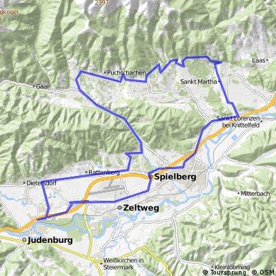 Fressenberg-Seckau-Bischoffeld- Red Bull Ring-Fohnsdorf-Arena-Knittelfeld