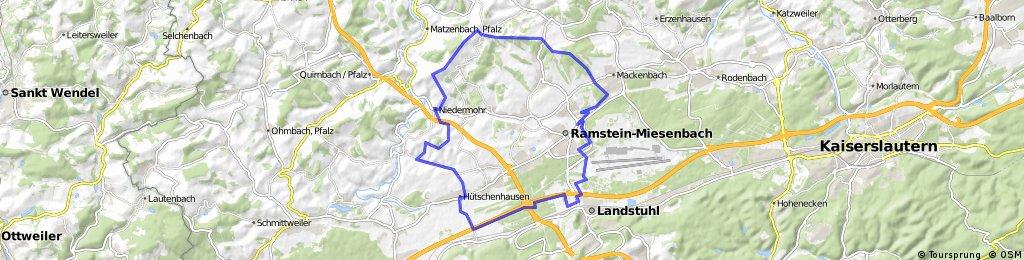 Ramstein-Miesenbach Rundweg (Bunte Schilder) | Bikemap ...