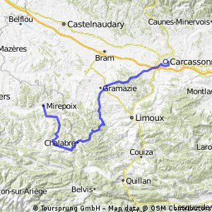 August 30 - Carcassonne to Mirepoix