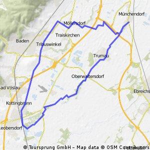 Münchendorf - Schönau Runde über EV9/Neustädter Kanal