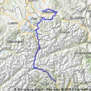 Route Tour de Suisse 2009, Stage 4