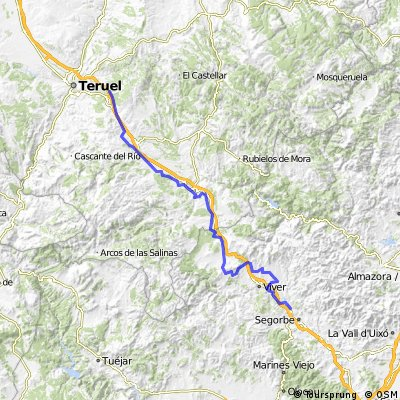 Via Verde, Teruel-Navajas 95km