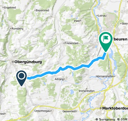 Günzburg bis Kaufbeuren