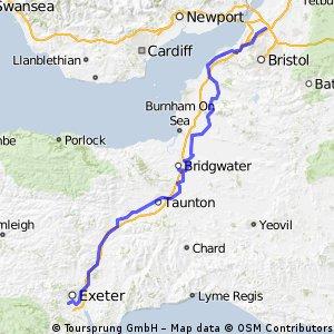 LEJOG Day 3 - Exeter to Almondsbury