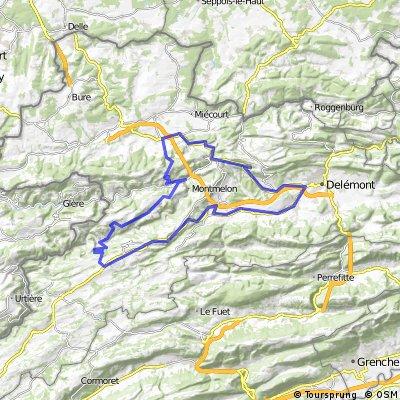 Montfaucon-Clos du Doubs-Col de la Croix-Col des Rangiers