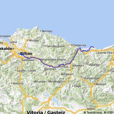 Bilbao-Getaria kort