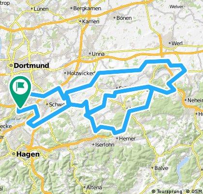 Wellinghofer RTF 151km-Strecke